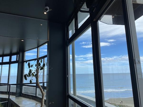店舗内からの眺望の写真
